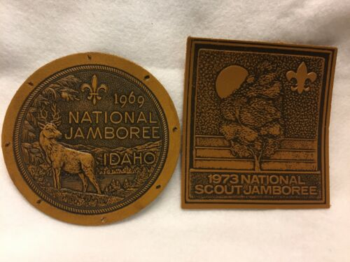 Boy Scouts -   1969 &  1973 National Jamboree leather patches - see description
