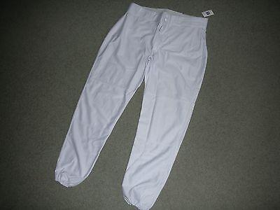 Russell Men/'s Baseball Pants White Nylon  33147MO Elastic Bottom Tapered