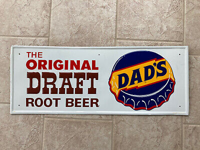 RARE Vintage Antique DAD'S Root Beer DRAFT Embossed