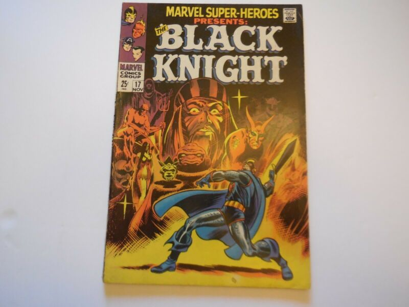 Marvel Super-Heroes #17 - 1st solo Black Knight Origin 1968 Eternals Lot of pix