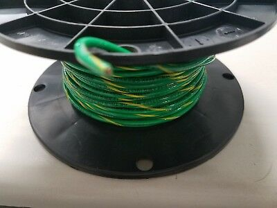 12 Gauge Thhn Wire 100 Feet Ea Thwn-2 600v Copper Stranded Greenyellow Ground