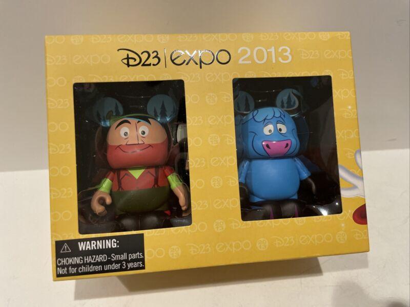 "Disney VINYLMATION 3"" D23 Expo 2013 Paul Bunyan & Babe LE 1000 NEW"
