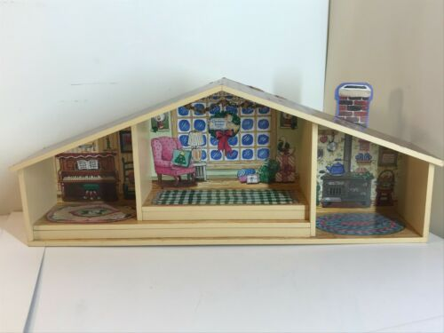 Enesco Cherished Teddies Christmas Display Stand Shadow Box