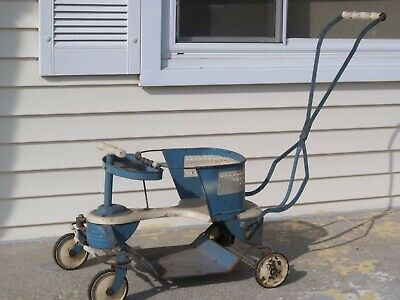 Vintage Taylor Tot Wood and Metal Baby Buggy Stroller Walker