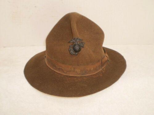 WW2 Marine Corp drill sergeant CAMPAIGN HAT, size 7 3/8