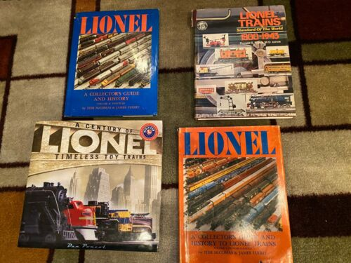 4 Lionel Trains History Books