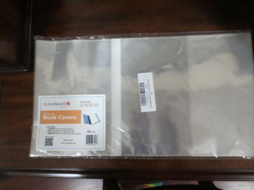 Slip On Clear Book Covers New 25 Count 8X14 Size