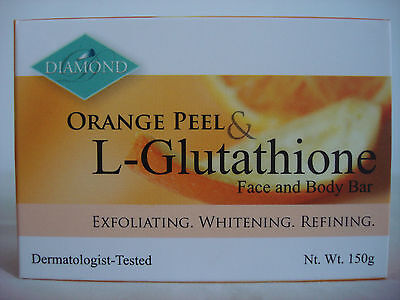 DIAMOND ORANGE PEEL & L-GLUTATHIONE FACE AND BODY SOAP 150G FREE SHIPPING
