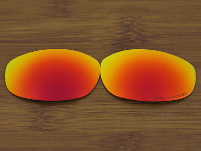Replacement Fire Red Polarized Lenses for-Oakley Tightrope Sunglasses (Oakley Tightrope Sunglasses Replacement Lenses)