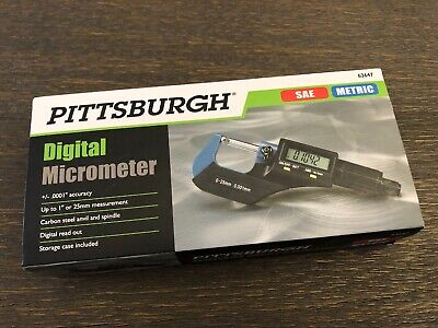 Pittsburgh Digital Micrometer - Sae Metric Model 63647 New