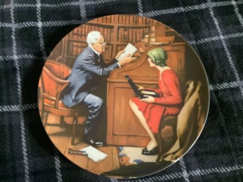 The Professor Plate by Norman Rockwell 1986 Free Ship