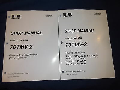 Kawasaki 70tmv-2 Wheel Loader Service Shop Repair Manual Book