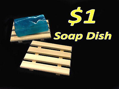 For The Bath Soap Dish - FLASH SALE!! 20 for $20 - 20 handcrafted in the USA wood soap dishes $1 each