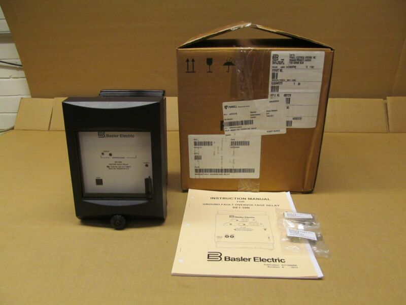 NIB BASLER BE1-59N BE1-59NA6EA1JC0N1F GROUND FAULT OVERVOLTAGE PROTECTION RELAY