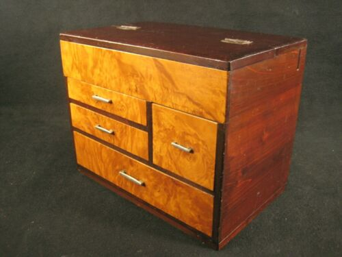VINTAGE JAPANESE EARLY SHOWA c1930 DRAWER 4 DRAWER HARIBAKO SEWING TANSU CHEST