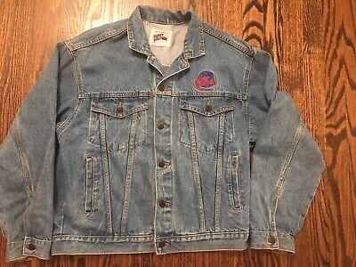 Vintage 90s Planet Hollywood Las Vegas Embroidered Large Jeans Jacket Trucker