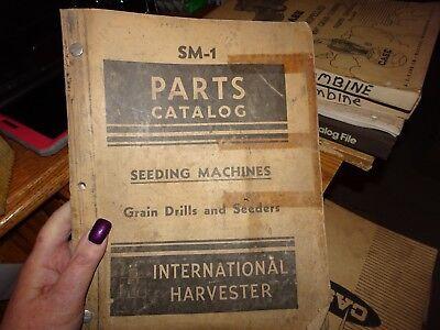 International Ih Seeding Machine Grain Drill Seeder Parts Catalog Manual Sm-1