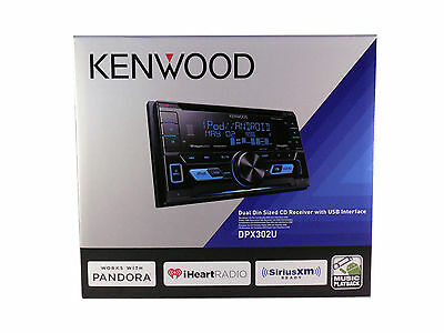 $97.36 - Kenwood Car Stereo 2-DIN CD Receiver with Front USB & Aux Inputs, DPX302U NEW
