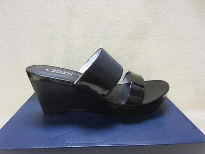 New CHAPS Rhoda-SN-CSL-Black Womens Size 7 B PU/Elastic 3