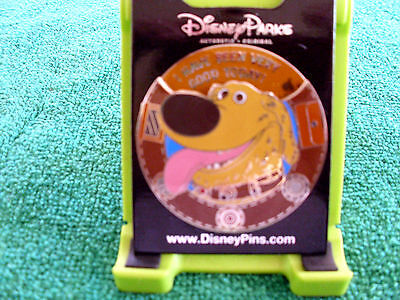 Disney * UP! - DUG - SPINNER * New on Card Trading Pin - Squirrel - Good Dog