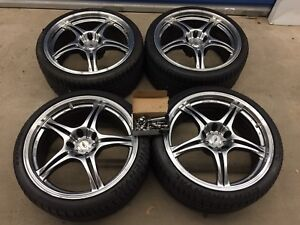 """19"""" enkei staggered low profile (5x120) $1000 obo"""