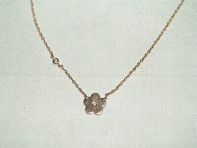 Très beau collier argent doré rose 925/1000 et zircons
