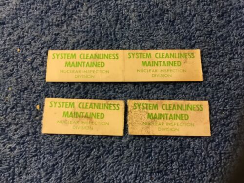 4 Vintage Nuclear Submarine Inspection Stickers. Naval Shipyard Inspection