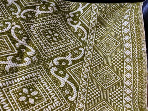 Antique Jacquard Summer & Winter Woven Coverlet