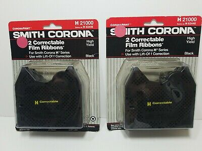 Smith Corona H 21000 Typewriter 4 Pack Correctable Film Ribbons H 63446 4 Total