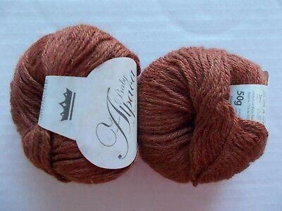 King Cole Baby Alpaca 100% Alpaca DK yarn, Rust, lot of 2, Peru (110 yds ea), used for sale  Shipping to Canada