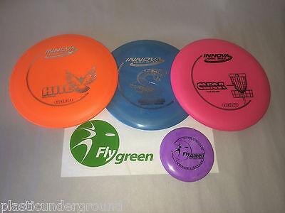 FRISBEE GOLF INNOVA DELUXE BEGINNER SET OF 3 DISCS + MINI.  YOU PICK THE DISKS!!](Frisbee Golf Set)