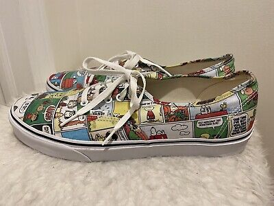 RARE Vans PEANUTS Shoes Snoopy The Gang Charlie Brown Skate Shoes Men's 13