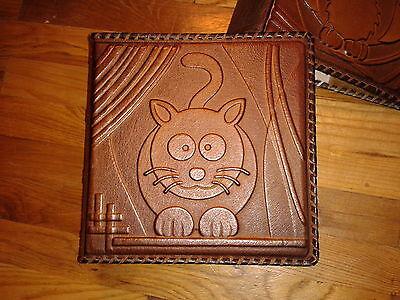 - Photo Album - Kitten Kitty Personalised Kids Handmade Art Leather Gift Cover #15