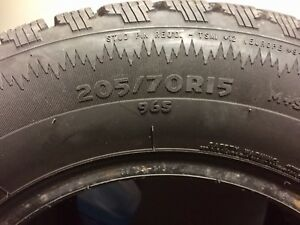 Winter tires. Cooper weathermaster tires 205/70/15.