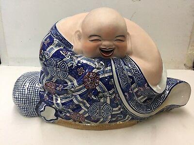 Large Signed Porcelain Buddha
