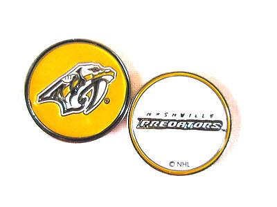 NHL Nashville Predators Golf Ball Marker Enamel Metal Team Logo 2 Sided Hat