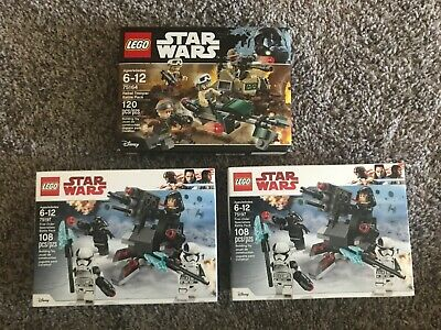 New In Box, 3 lego Star Wars sealed Set lot 75164 and (2) 75197