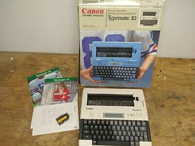 Vintage Japan Canon Personal Electric Typewriter Typemate 10 Tested D Batteries