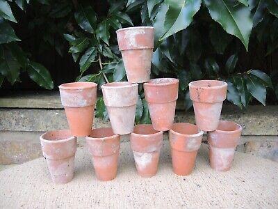 10 Old  Vintage  Terracotta Plant Pots 2.25