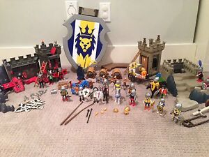 Playmobil toys - assorted sets (knights, pirates, police)