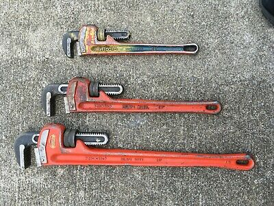 Ridgid Pipe Wrench Lot - 24 18 14 - X3 Wrenches