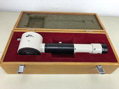Nikon Microscope Zoom Drawing Tube In Wooden Box