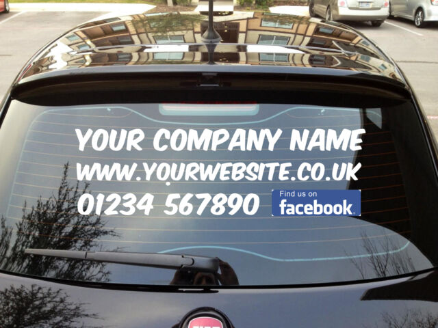 Social Media Stickers For Your Business Promotional Social - Car window decals for business uk