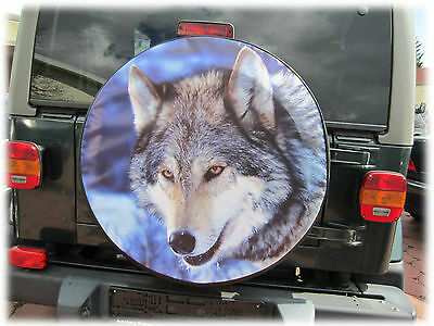 WOLF 1 Reserveradabdeckung Reserveradhülle Reifencover Cover 62X22cm