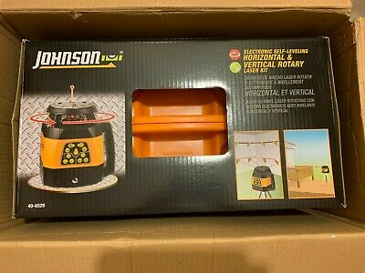 Johnson Level And Tool 40-6529 Electronic Self-leveling Horizontal And Vertical