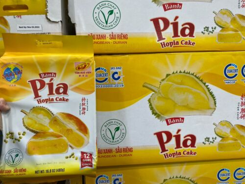 2 Pack - Banh Pia Hopia Cake Durian Mungbean 16.8 oz Each Pack, Lot 2