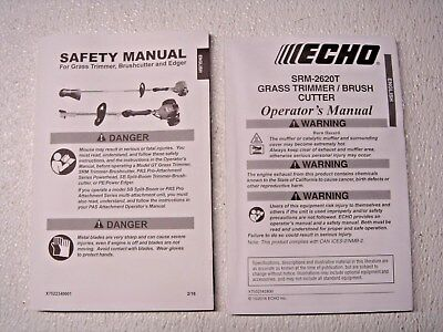 ECHO SRM-2620T gas nylon trimmer weed wacker owners manual -