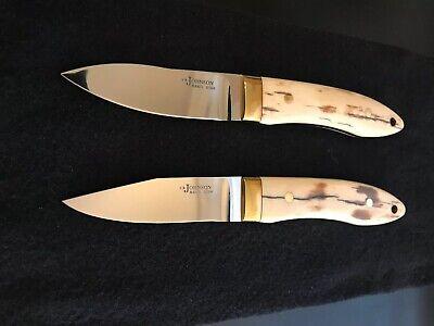 S.R. JOHNSON CUSTOM KNIVES-SPECIAL SET-BOOK KNIVES-LOVELESS PARTNER -RARE!!