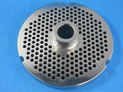 32 X 316 Meat Grinder Plate W Hub Stainless Fits Hobart Biro Lem More