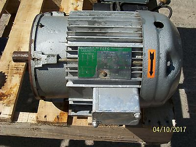 Lincoln Ac Motor Tefc 5hp 5 Hp 3 Phase 1740 Rpm 208-230460 Sm1124